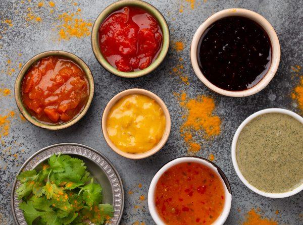 Assorted Indian chutneys